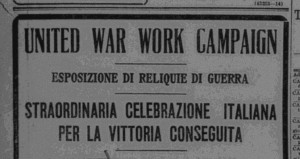 An advertisement for the campaign in Italian